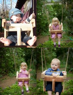 Baby Swing Or Toddler Swing - Cedar Handmade Porch Or Tree Swing - Child's Swing…