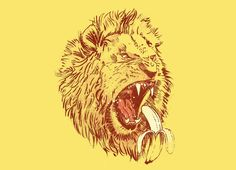 Check out the design Banana Eating Lion by  TripperJack on Threadless