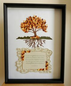 3D Tree and scripture wall art shadow box by KristynsKreations517, $150.00