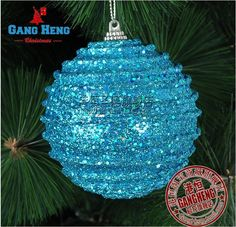 Christmas tree ornaments 8 cm blue stripes foam Christmas balls-in Christmas Decoration Supplies from Home  Garden on Aliexpress.com $15.50