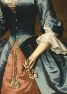 Portrait of Mrs. by Robert Feke, 1746 (detail) Historical Costume, Historical Clothing, Moda Medieval, Fairytale Fashion, Photo Images, 18th Century Fashion, Old Dresses, Fantasy Dress, Old Paintings