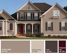best tan exterior paint color - Google Search