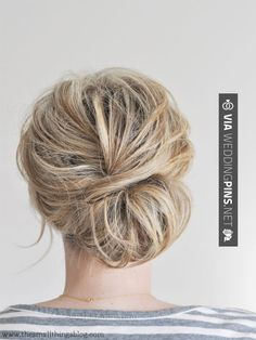 Neat! - Wedding Guest Hair - The Small Things Blog: Low Chignon Hair Tutorial…