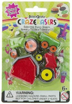 CrazErasers Collectible Erasers ~ Fantastic Farming (Series 3) by Fashion Angels Enterprises. $2.99. Each pack contains 4 mini-erasers.. No PVC. Safety Tested.. There are 12 styles in this series (EACH SOLD SEPARATELY): Baby Couple, Bowling to Go, Buying Power, Deco Jewelry, Essential Fragrance, Farm & Barn, Felis Catus, Ladies GaGaGaGa, Master Painter, Pony Go Around, Project RunAway, and Skateboard Fever.. Erasers are not just for erasing? Are you crazy? Hop on the latest f...