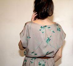 Kimono dress aux plantes
