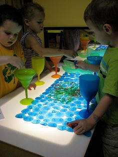 Light table materials by Takoma Park Cooperative Nursery School, via Flickr