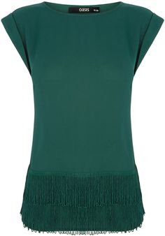 Womens bottle green t-shirt from Oasis - £32 at ClothingByColour.com