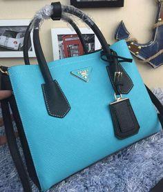 PRADA Saffiano Leather Tote Bag BN2755 SkyBlue 6cbdc0071c612