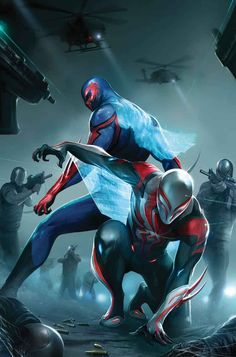 #Spiderman #2099 #Fan #Art. (Spider-Man 2099 #24 Cover) By: Francesco Mattina. ÅWESOMENESS!!!™ ÅÅÅ+