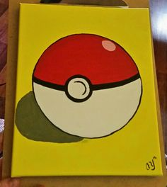 Pokemon ball canvas painting Source by Canvas Painting Designs, Cute Canvas Paintings, Easy Canvas Painting, Painting For Kids, Diy Painting, Pokemon Painting, Pokemon Craft, Painted Rocks Kids, Kids Canvas