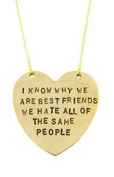 Best Friends Necklace ♥ #bff