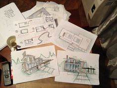 More than 200 of fans free hand Sketching #Architecture