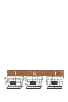 Wire Basket Wall Organizer by Rustic Vintage on @HauteLook. This would be perfect for storing produce in the kitchen in the summertime.