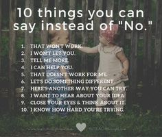 """Different ways to say """"no"""""""
