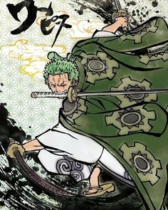 "Roronoa Zoro, nicknamed ""Pirate Hunter"" Zoro, is a fictional character in the One Piece franchise created by Eiichiro Oda. In the story, Zoro is the first to join Monkey D. Luffy after he is saved from being executed at the Marine Base. He is one of the two swordsmen of the Straw Hat Pirates, #OnePiece #Luffy #Zoro"