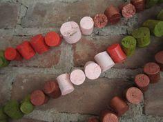 Wine cork garlands!