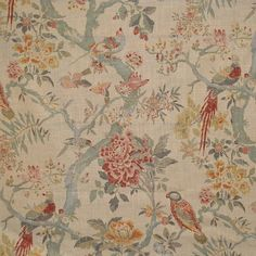 Magnolia Fabric Clarence Vintage our website for purchase 55 Linen 45 Rayon China/Usa Horizontal: and Vertical: - My Fabric Connection - French Country Fabric, English Country Style, French Fabric, Drapery Fabric, Curtains, Pattern Names, To Color, Fabulous Fabrics, Round Mirrors