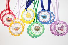 DIY -- Free Banner w/Purchase - Sesame Street Favor Tags, Sesame Street thank you tags, sesame street birthday party decor