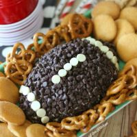 Game Day Chocolate Chip Cheesecake Ball - Belle of the Kitchen