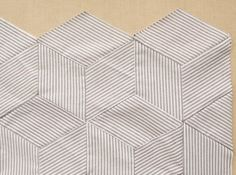 Striped Tumbling Blocks Quilt- How Tos 600-9