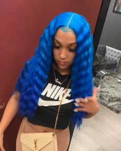 613 blonde lace front wig deep human hair,can be dyed,permed and restyled. Baddie Hairstyles, My Hairstyle, Peinado Updo, Blonde Lace Front Wigs, Blue Lace Front Wig, Curly Hair Styles, Natural Hair Styles, Cute Hair Colors, Colored Wigs