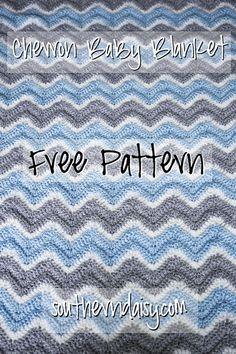 Southern Daisy: Chevron Baby Blanket - free crochet pattern with diagram. Crochet Ripple, Baby Afghan Crochet, Crochet Blanket Patterns, Love Crochet, Crochet Stitches, Knit Crochet, Crochet Blankets, Crotchet, Double Crochet Baby Blanket