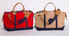 Monogram Canvas Weekend Duffle Bag by TetaApparel on Etsy I want to get this bag for my hubby!