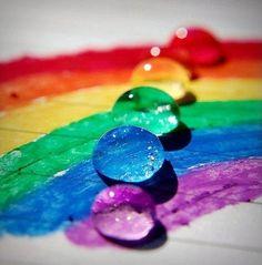 raindrop-rainbow - colour shades to inspire art, design or new fused glass goodies at Latch Farm Studios www.latchfarmstudios.co.uk