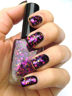 Glitter nail polish - 'After party' by Let it glitter! @ Etsy