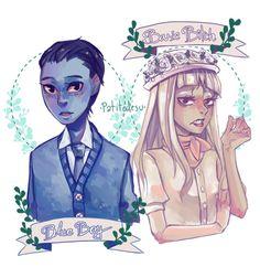 Blue Boy and Basic Bitch by Patitodesu