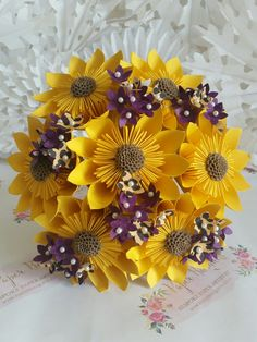 Paper flower bouquet origami alternative trending hot new must have flowers bridal wedding fun rustic romantic latest must have design 2017 sunflower happy hippy festival leopard print blossom purple