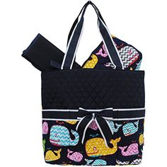 Sea Summer Whale Print Quilted Diaper Bag -- Learn more by visiting the image link.