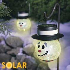 Snowman Solar Lights