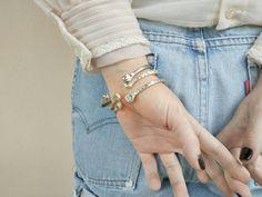 Eira Cuff Bracelet  Sterling Silver Cuff Bracelet, Cabochon Cuff Bracelet, Silver Plated Bracelet, Hand Carved White Bronze Cuff / Boho Cuff