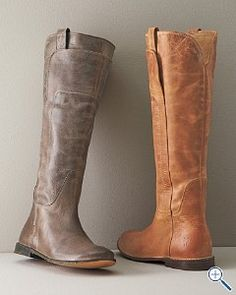 "Frye Paige - I'll take both! I hate that Frye boots are so expensive. They're my new ""ugg""."