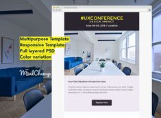 #uxconference is a perfect newsletter for any Events, Conference and marketing purpose.