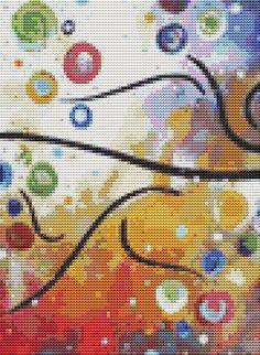 Modern Cross Stitch PDF Pattern Dreamy 1 of 4 By by GeckoRouge, $15.00