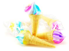 marshmallow candy cones