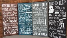 Kitchen Rules, Kitchen Signs, Kitchen Decor, Selection Boxes, Cottage Signs, Friend Recipe, Kiss The Cook, Rustic Cottage, Funny Signs