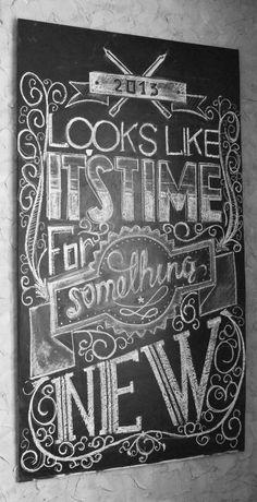Chalk typography by Konstantin Zhenchur, via