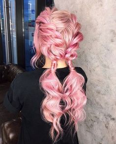 hairstyles natural hairstyles using hairstyles straight back hairstyles near me braided hairstyles braid hairstyles hairstyles lines updo hairstyles for black hair 2018 # side Braids half up half down Hair Color Pink, Cool Hair Color, Blue Hair, Curly Pink Hair, Pretty Hairstyles, Braided Hairstyles, Pink Hairstyles, Ethnic Hairstyles, Little Girl Hair