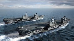 The British Royal Navy's future supercarriers, HMS Queen Elizabeth and HMS Prince of Wales. [1024 x 576] - Imgur