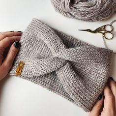 Addi Knitting Machine, Circular Knitting Machine, Loom Knitting Stitches, Knitting Machine Patterns, Knitting Yarn, Knit Patterns, Easy Crochet Headbands, Knitted Headband, Modern Crochet