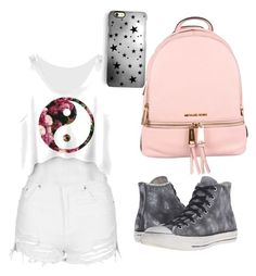 """#backtoschool"" by babici-alexia on Polyvore featuring beauty, MICHAEL Michael Kors, Topshop, Converse and Rianna Phillips"