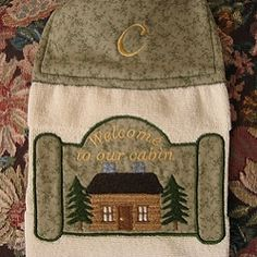 Welcome To Our Cabin Applique - 2 Sizes! | Camping | Machine Embroidery Designs | SWAKembroidery.com Abigail Michelle
