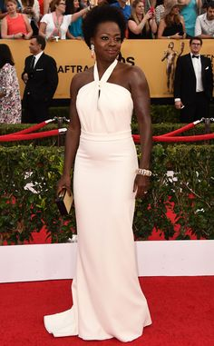 Viola Davis from Best Dressed at the 2015 SAG Awards  If Reese's look didn't do the trick (which we'd find hard to believe) the How to Get Away with Murder star (in Max Mara) will definitely get you back on board with the white gowns fad.