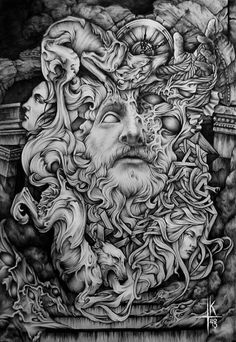 Dark, occult, classic inspired illustrations by Ze666ra