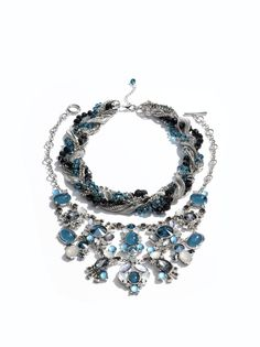 One statement necklace is never enough.  #wearwhatworks #makeastatement @Sandi -A blessed Woman