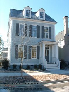 A skinny house i really like this one too adam federal for Southern living phone number