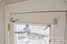 Magnetic Curtain Rods for French Doors -- How to Sew Roman Shades for French Doors